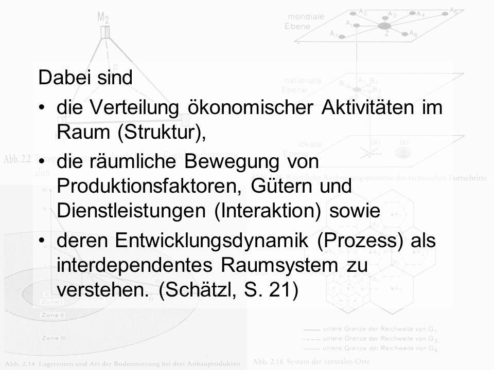 Anna Jonas Dabei sind die Verteilung ökonomischer Aktivitäten im Raum (Struktur), die räumliche Bewegung von Produktionsfaktoren, Gütern und Dienstlei