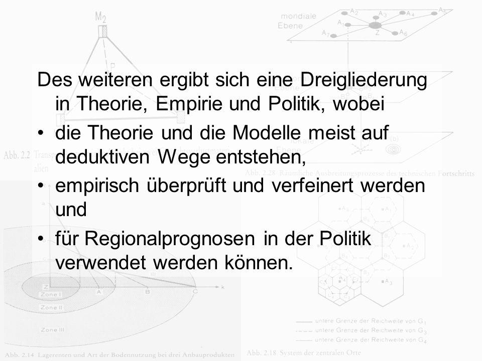 Anna Jonas Des weiteren ergibt sich eine Dreigliederung in Theorie, Empirie und Politik, wobei die Theorie und die Modelle meist auf deduktiven Wege e