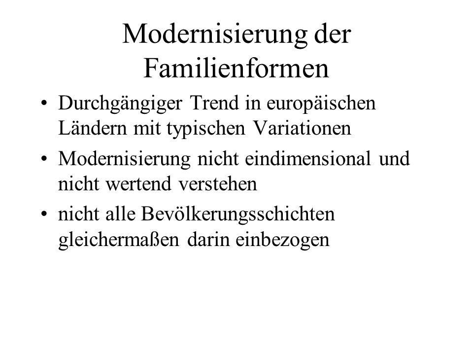 Neue Konzepte Breiter Familienbegriff: Familie sind Beziehungen, die nicht auf den Haushalt beschränkt sind.