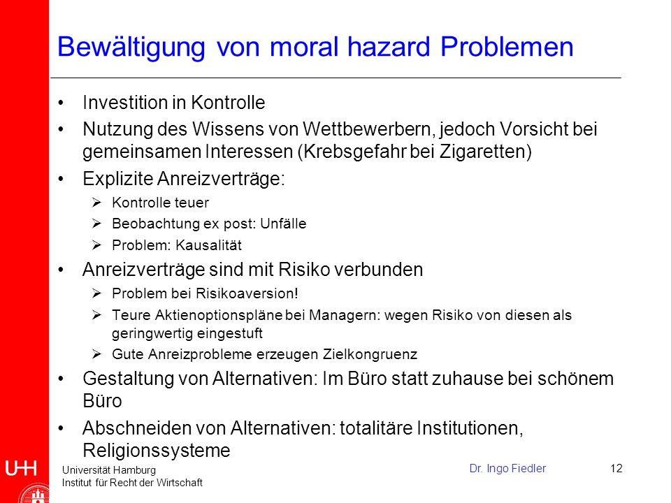 Universität Hamburg Institut für Recht der Wirtschaft Eigentum (3) Einschränkungen von Eigentumsrechten oder Recht auf Residualempfang Einschränkungen durch Gesetz, - z.B.