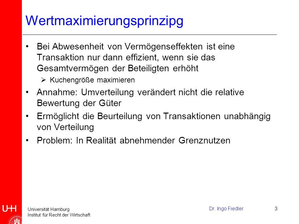 Universität Hamburg Institut für Recht der Wirtschaft Dr.