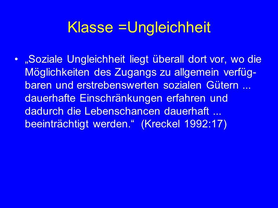Deutungsansätze der 50 - 70iger Jahre Kontroversen um Klassen, Schichten in 80iger Jahren durch Habermas neue Unübersichtlichkeit U.