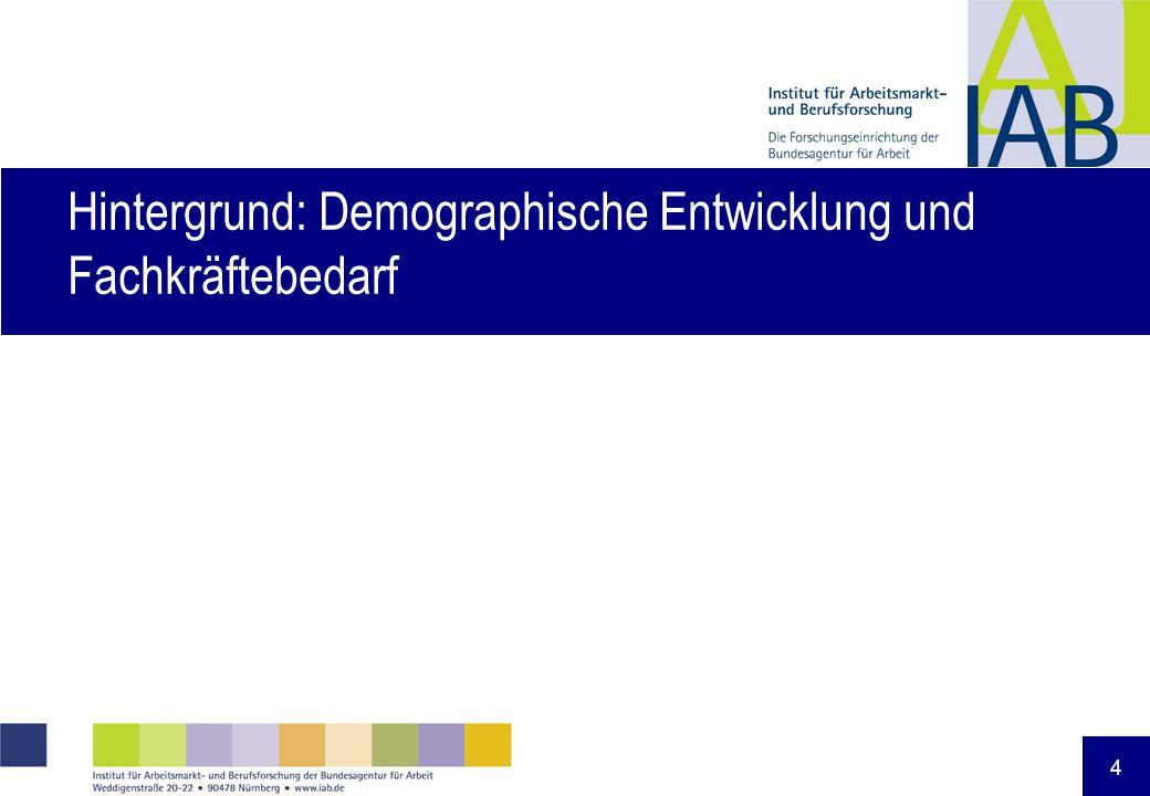 4 Hintergrund: Demographische Entwicklung und Fachkräftebedarf