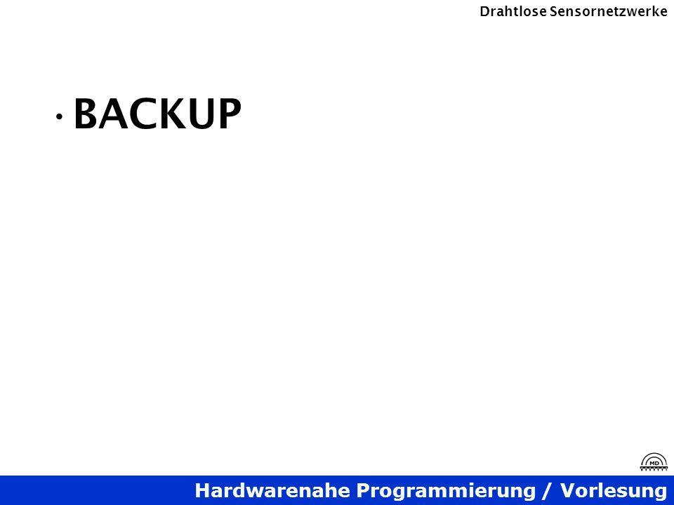 Hardwarenahe Programmierung / Vorlesung Drahtlose Sensornetzwerke BACKUP
