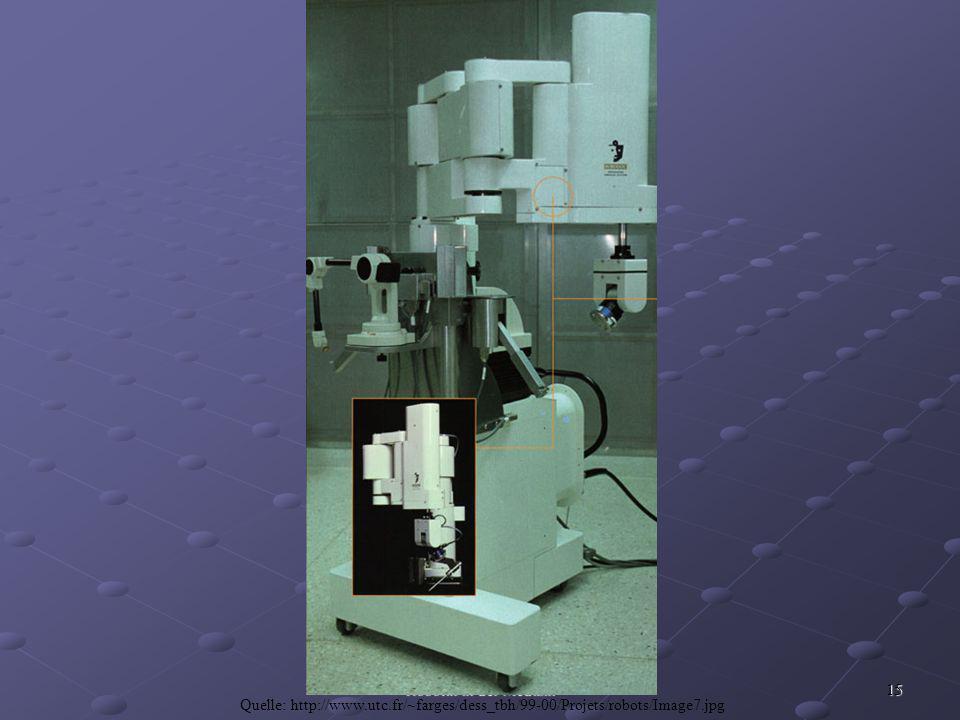 15 Robotik in der Medizin Quelle: http://www.utc.fr/~farges/dess_tbh/99-00/Projets/robots/Image7.jpg