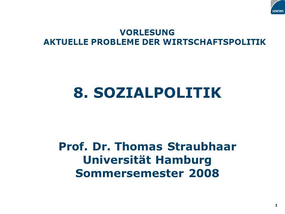 1 VORLESUNG AKTUELLE PROBLEME DER WIRTSCHAFTSPOLITIK 8.