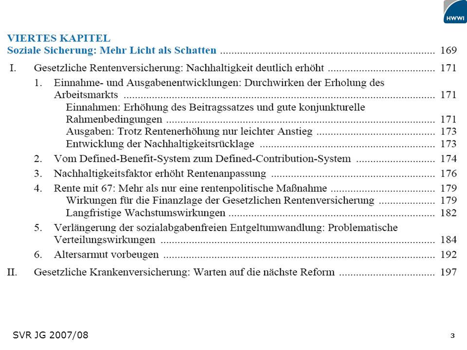 44 Befreiung des Arbeitsmarktes von sozialpolitischem Ballast Trennung von Arbeitsmarkt- und Sozialpolitik Mindestsicherung statt Mindestlohn Wirtschaftspolitik (als Basis) Effizienz & Dynamik als Ziele Sozialpolitik Verteilung & Gerechtigkeit als Ziele