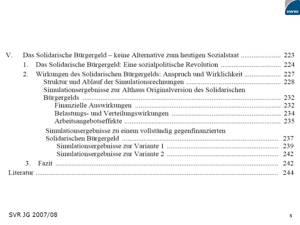 46 Direkte statt indirekte Hilfen (Direkte Zuschüsse an Schwächere) Zuzahlungen (pre paid chip cards) Gutscheine