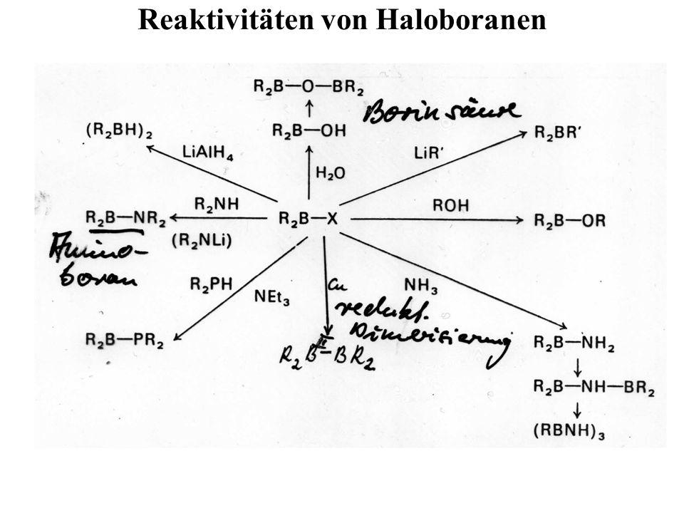 Reaktivitäten von Haloboranen