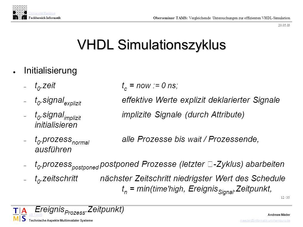 12 / 35 AB TAMS Technische Aspekte Multimodaler Systeme Universität Hamburg Fachbereich Informatik Oberseminar TAMS: Vergleichende Untersuchungen zur