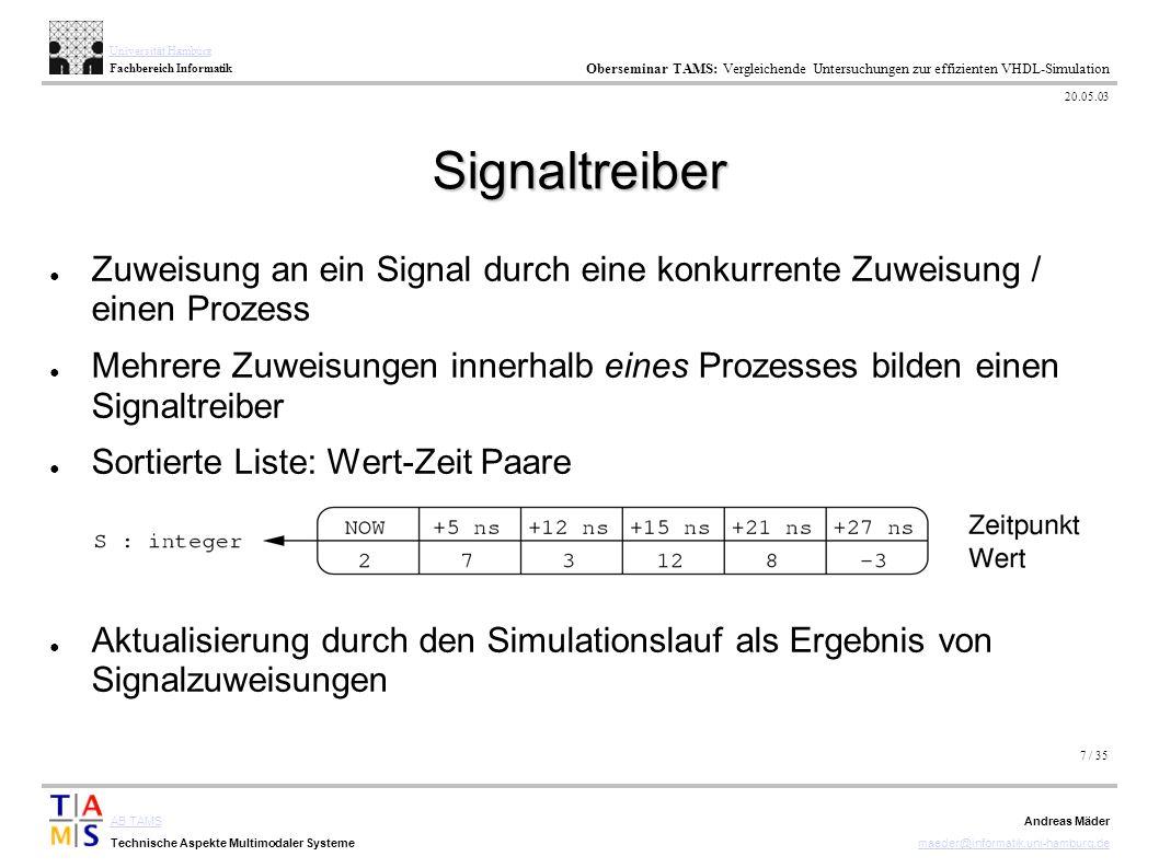 7 / 35 AB TAMS Technische Aspekte Multimodaler Systeme Universität Hamburg Fachbereich Informatik Oberseminar TAMS: Vergleichende Untersuchungen zur e