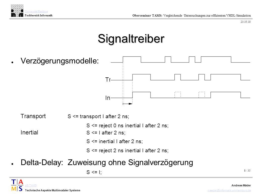 8 / 35 AB TAMS Technische Aspekte Multimodaler Systeme Universität Hamburg Fachbereich Informatik Oberseminar TAMS: Vergleichende Untersuchungen zur e