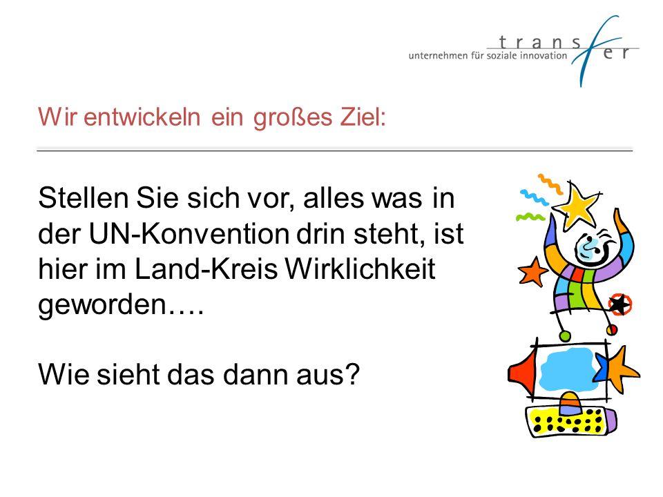 Wir entwickeln ein großes Ziel: Stellen Sie sich vor, alles was in der UN-Konvention drin steht, ist hier im Land-Kreis Wirklichkeit geworden…. Wie si
