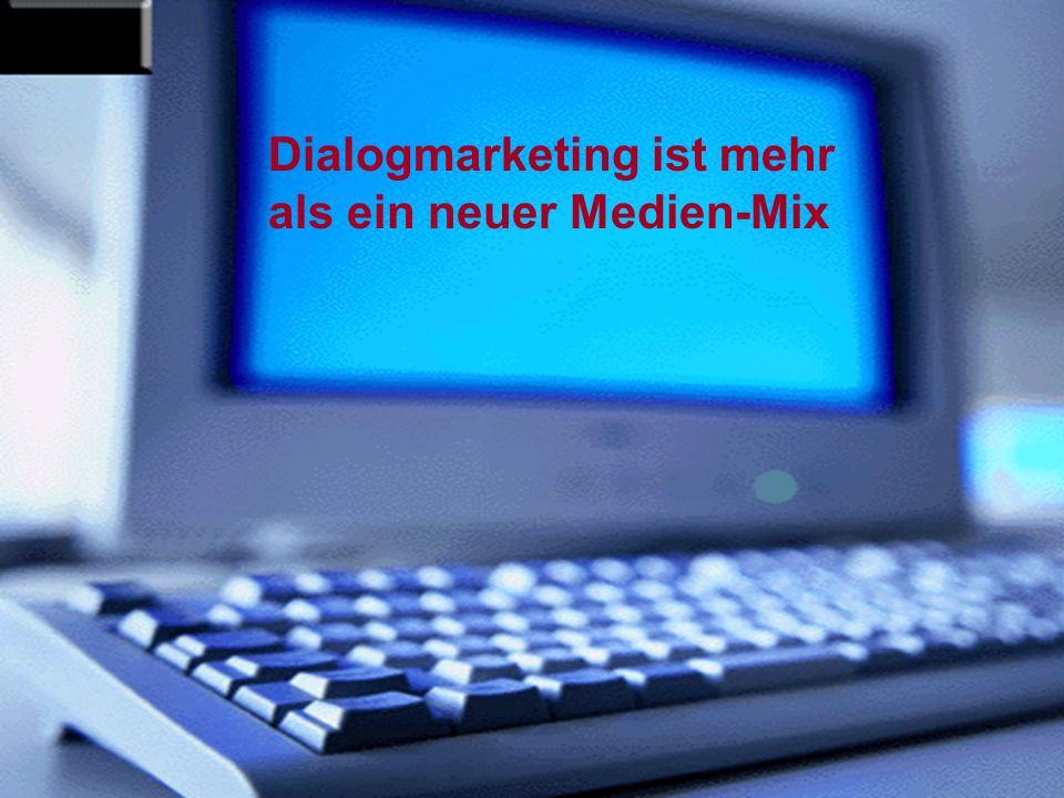 Dialogmarketing ist mehr als ein neuer Medien-Mix