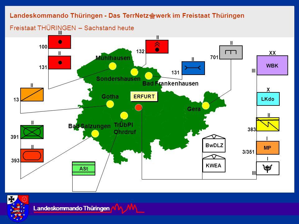 Landeskommando Thüringen Wir sind da - im Notfall sowieso ! Das Landeskommando THÜRINGEN