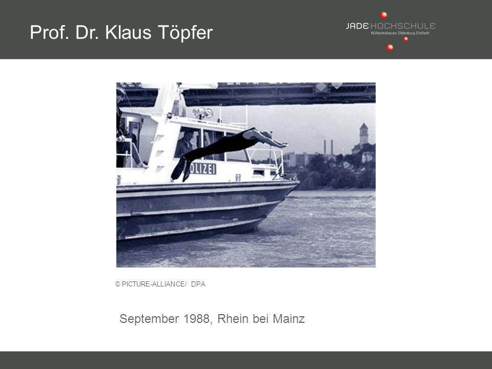 © PICTURE-ALLIANCE/ DPA Prof. Dr. Klaus Töpfer September 1988, Rhein bei Mainz