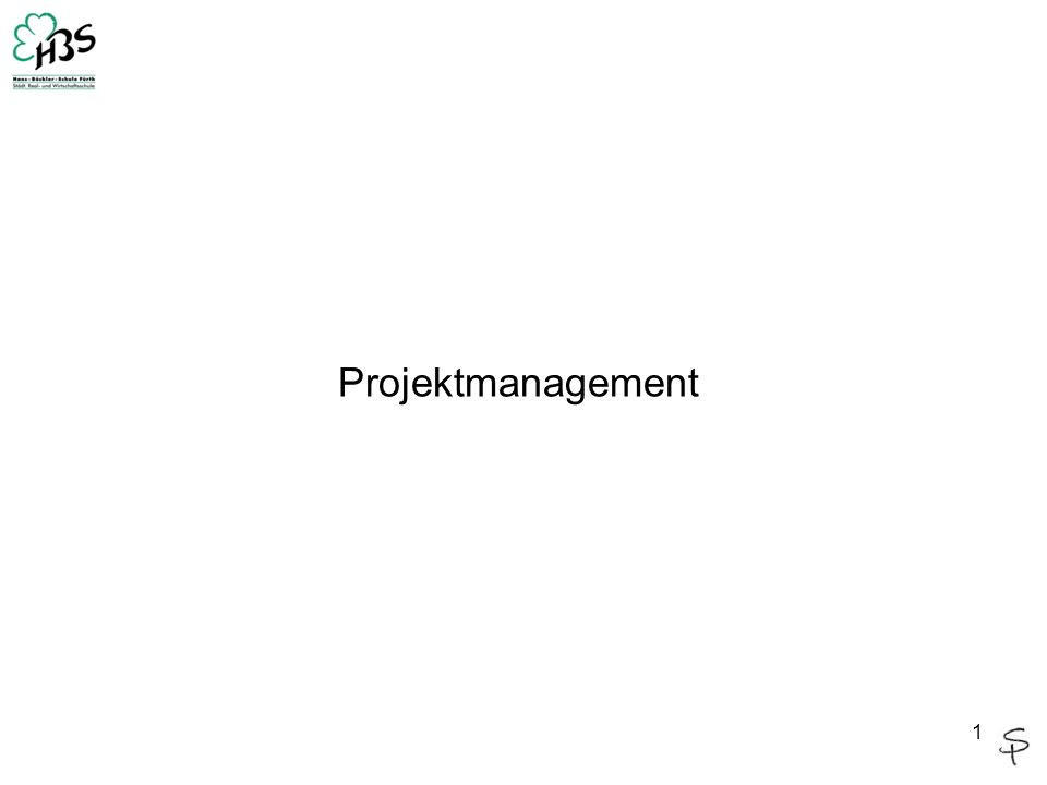 1 Projektmanagement