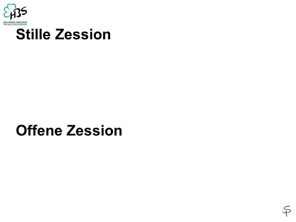 Stille Zession Offene Zession