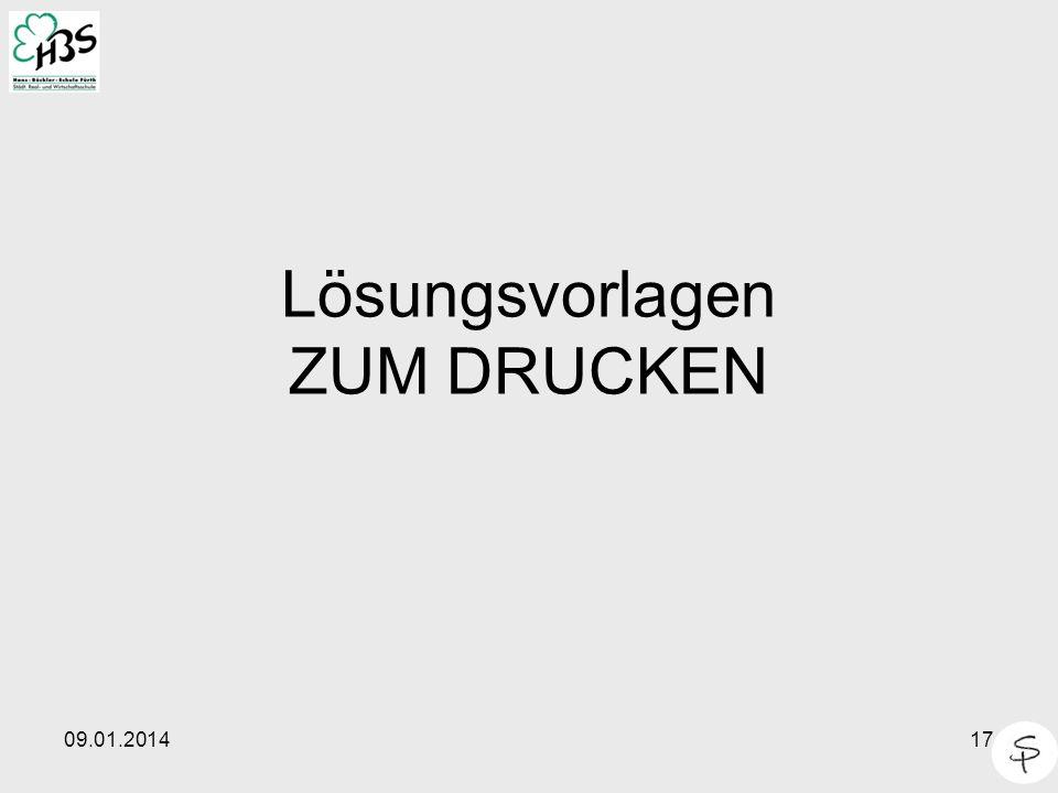 09.01.201417 Lösungsvorlagen ZUM DRUCKEN