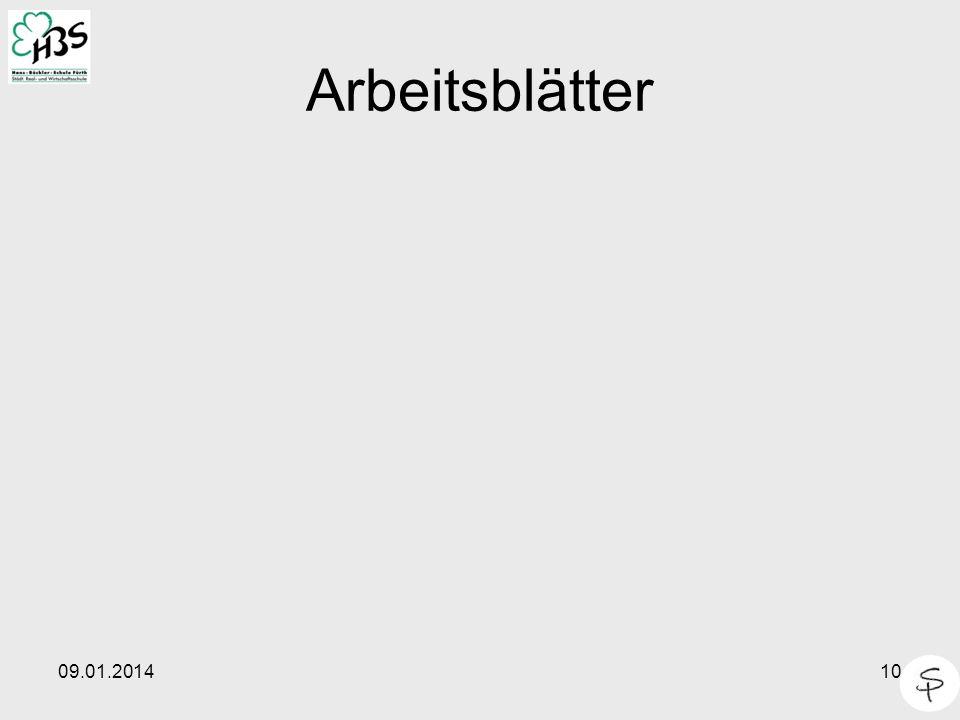 09.01.201410 Arbeitsblätter
