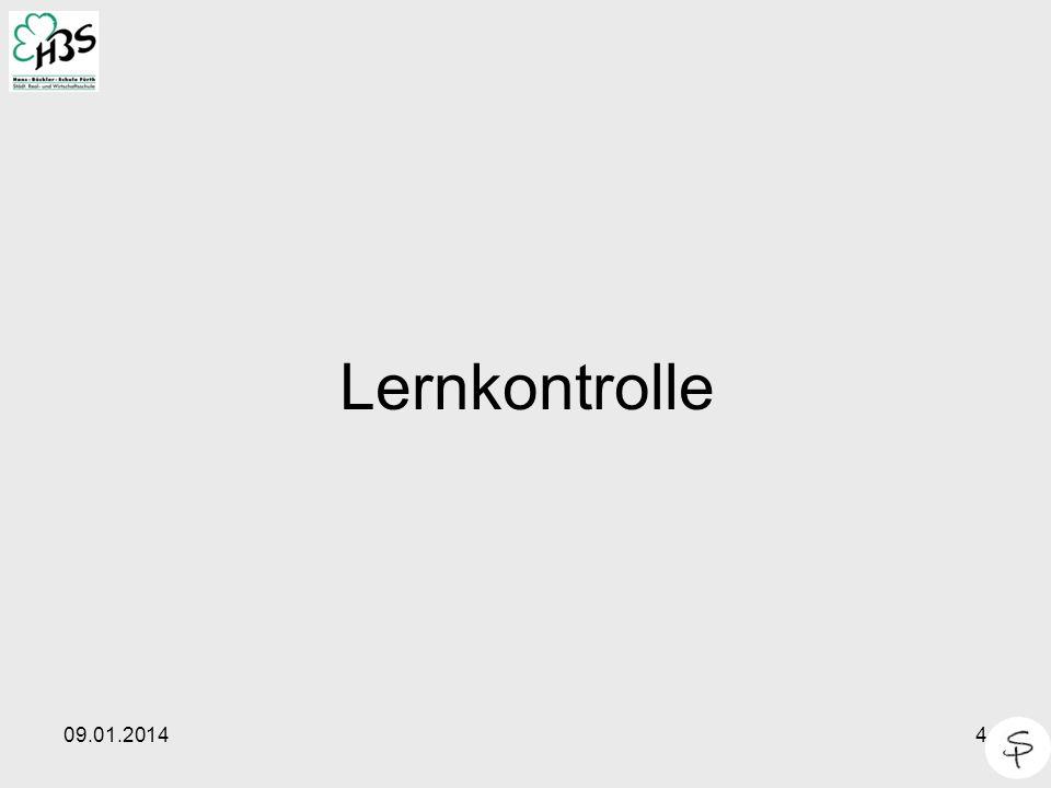 09.01.20144 Lernkontrolle