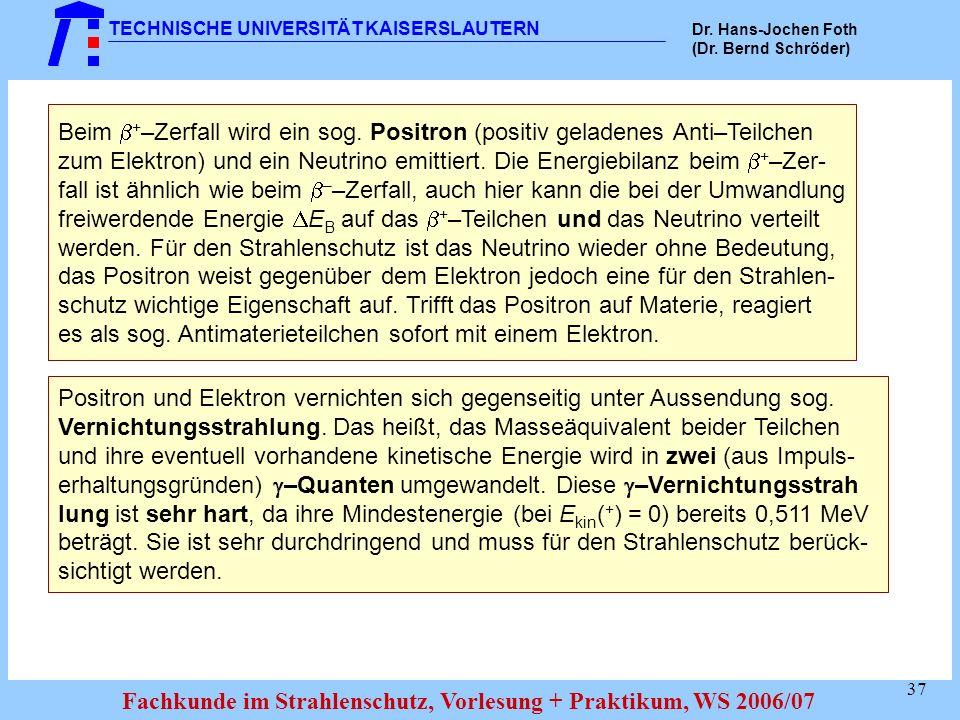TECHNISCHE UNIVERSITÄT KAISERSLAUTERN Dr.Hans-Jochen Foth (Dr.