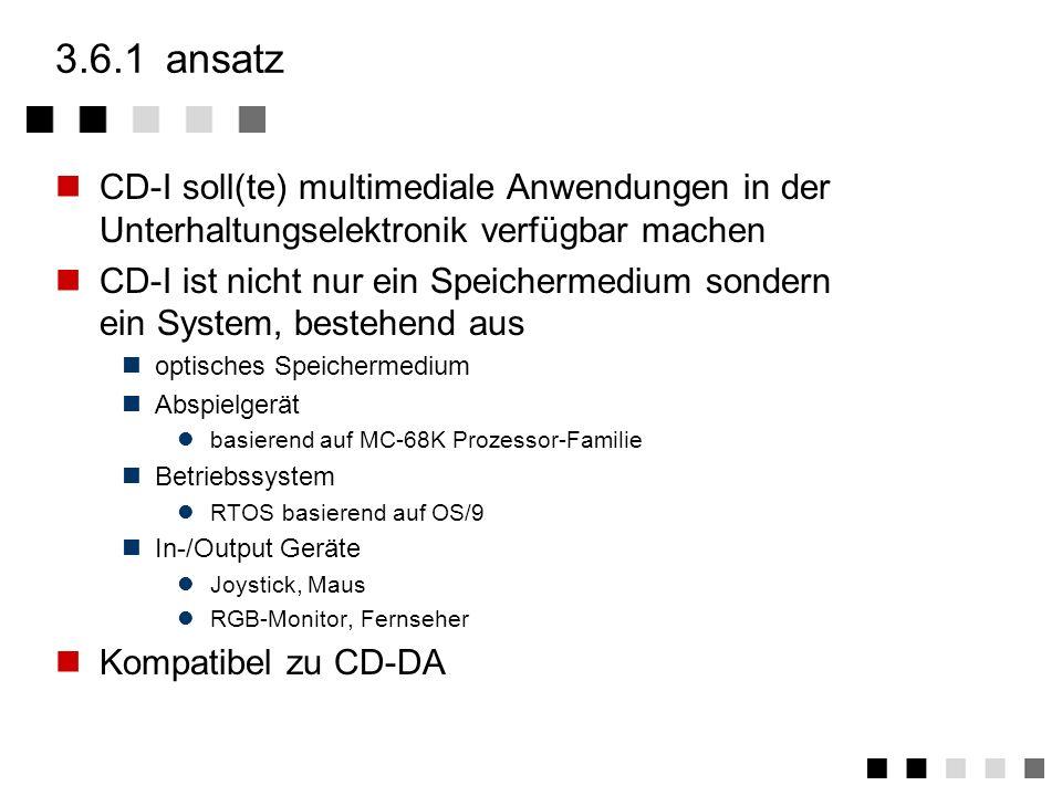 3.6CD-I ansatz medien zusammenfassung CD-I