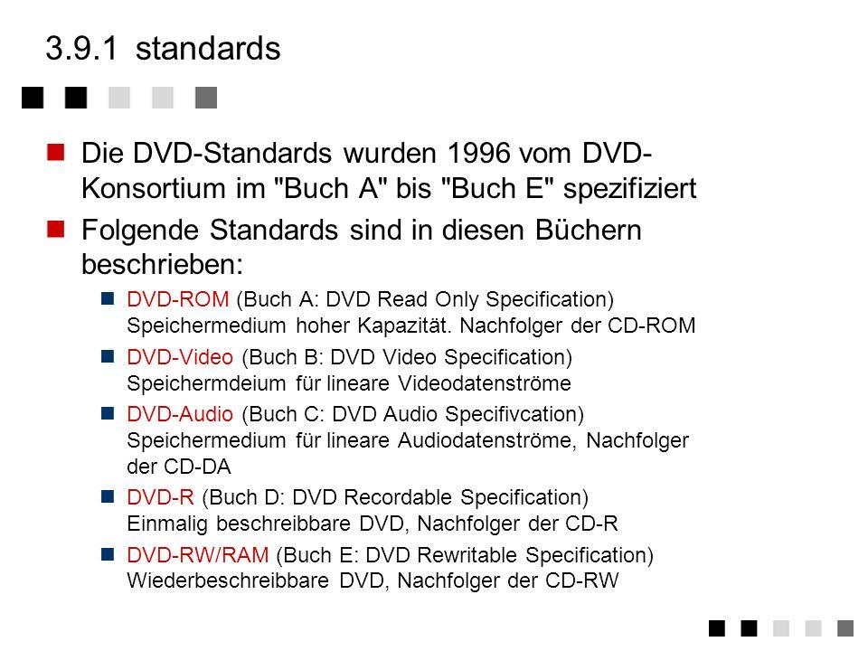 3.9Digital Versatile Disc (DVD) standards versionen technik aufbau dekoder vergleich CD DVD zusammenfassung DVD