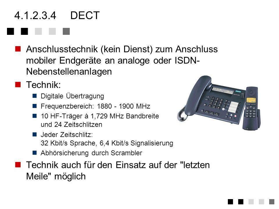4.1.2.3.2funkrufempfänger (pager) Dienst zur Rufsignalübermittlung an kleine Funkempfänger mittels Telefon Eurosignal 3 Rufbereiche in D: Süd/Nord (87