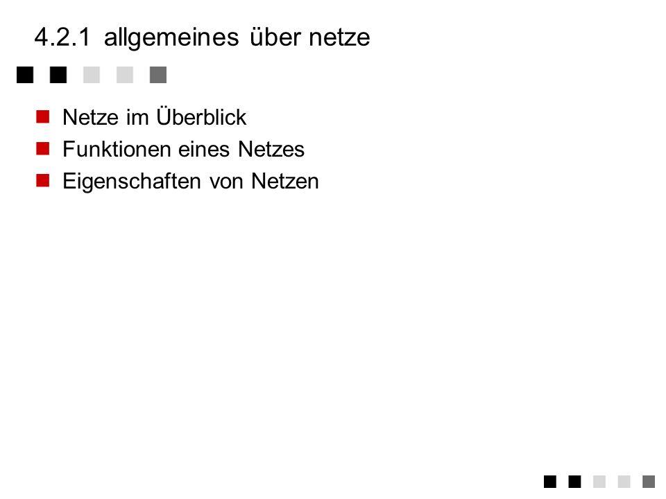 4.2netze Allgemeines über Netze Netzstrukturen Netzbetreiber Zusammenfassung
