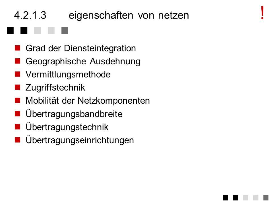 4.2.1.2funktionen eines netzes Vermitteln von Komunikationspartnern Übertragen von Information Übermittlung als Zusammenfassung der beiden Hauptfunkti