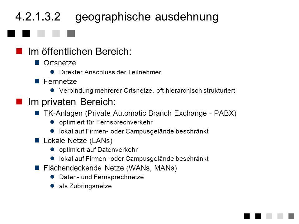 4.2.1.3.1grad der diensteintegration Dienstspezifische Netze (Dedicated Networks) Netz ist speziell für einen Dienst ausgelegt typische Netze: praktis