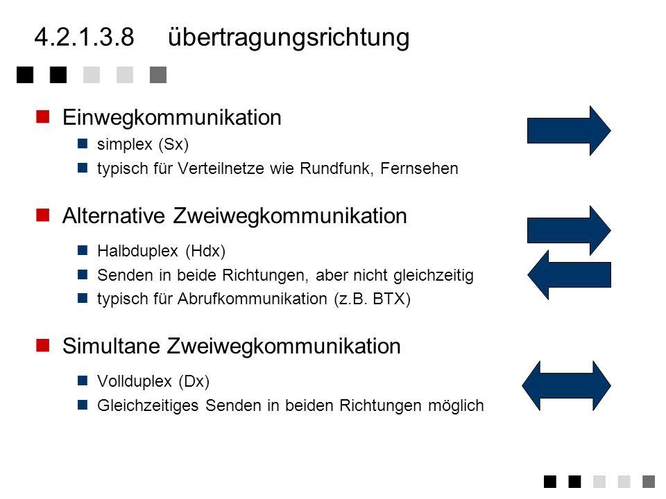 4.2.1.3.7übertragungstechnik Analog / Digital Analoger Dienst auf analogem Signal z.B. Rundfunk Analoger Dinst auf digitalem Signal z.B. Fernsprechen