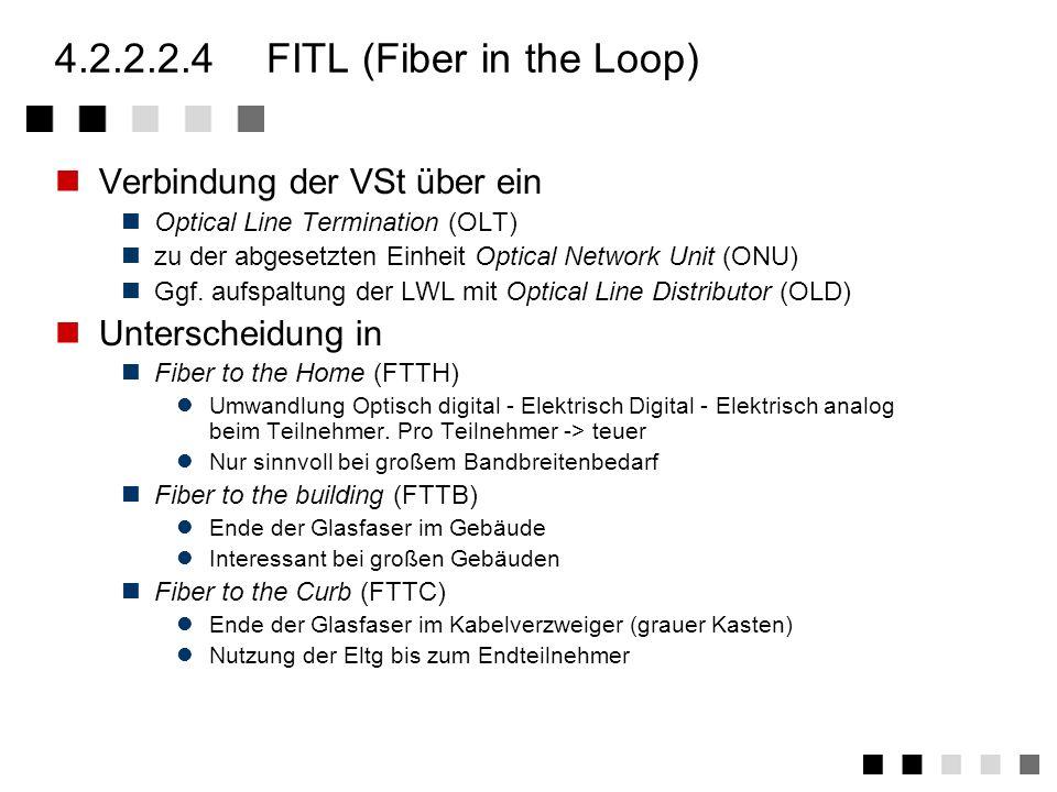 4.2.2.2.3V 5.1 V 5.2 V 5.1 Multiplexer Anschluss der Teilnehmer ohne Konzentration Feste Zuordnung von Teilnehmer zu Zeitschlitz V 5.2 Konzentrator Zu