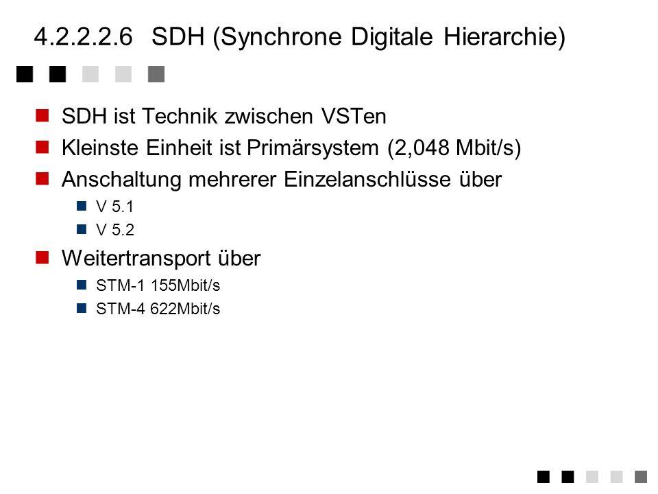 4.2.2.2.5xDSL (x Digital Subscriber Line) Ausnutzung der Bandbreiten von Kupferdoppeladern HDSL (High bit rate Digital Subscriber Line) Bidirektionale