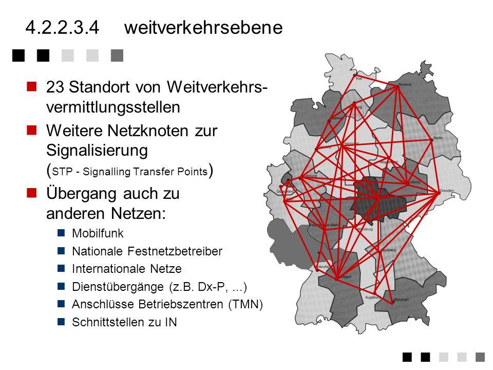 4.2.2.3.3zugangs-/lokalebene Je nach Größe eines Ortsbereiches können eine Zugangs-VSt mehrere Ortsbereiche bedienen Ortsbereiche von verschiedenen Zu