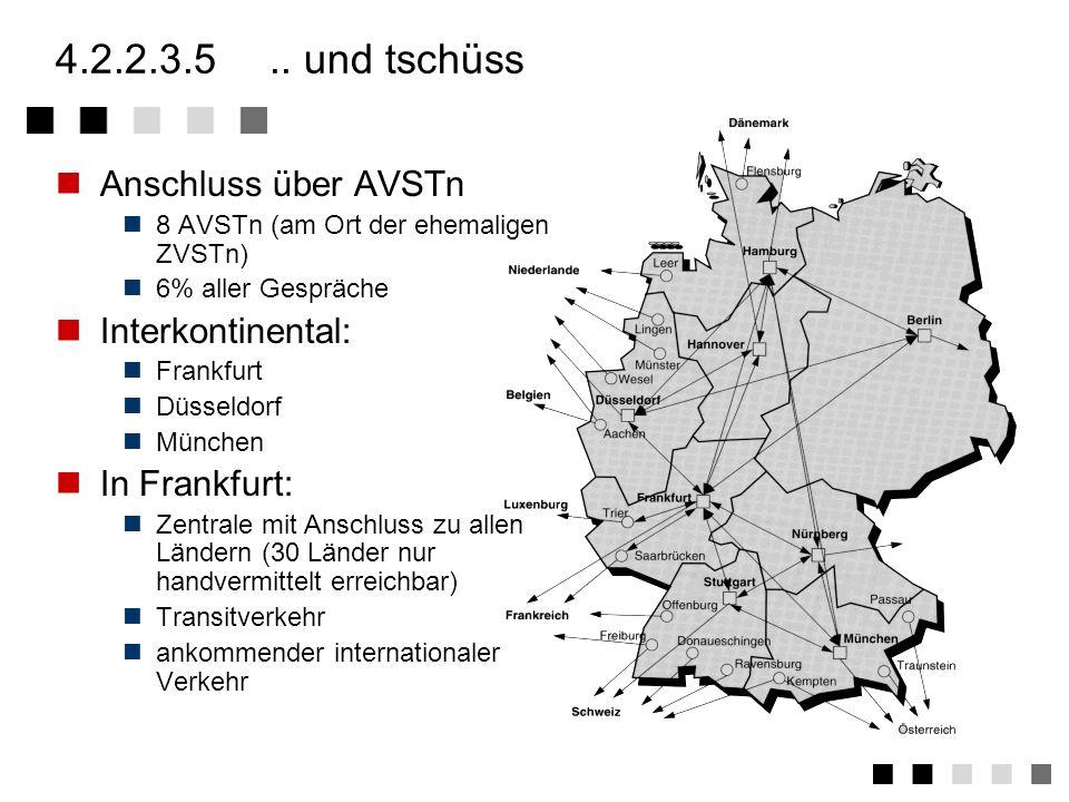 4.2.2.3.4weitverkehrsebene 23 Standort von Weitverkehrs- vermittlungsstellen Weitere Netzknoten zur Signalisierung ( STP - Signalling Transfer Points