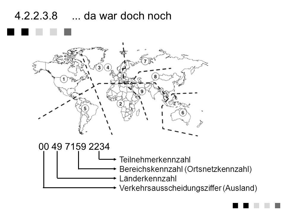 4.2.2.3.7zusammenfassung Struktur analogen/digitalen Festnetz Mobilfunknetz Die letzte Meile Anschlusstechniken: a/b-Ader, V5.1/V5.2 (Multiplexer/Konz