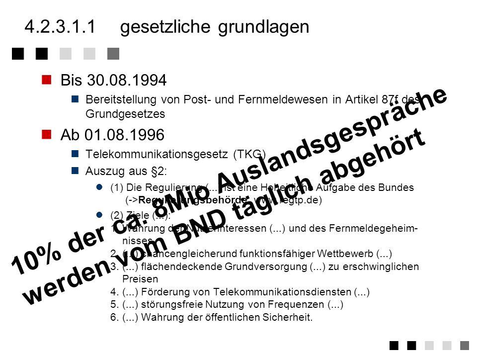 4.2.3.1rechtliches Gesetzliche Grundlagen Lizenzen §