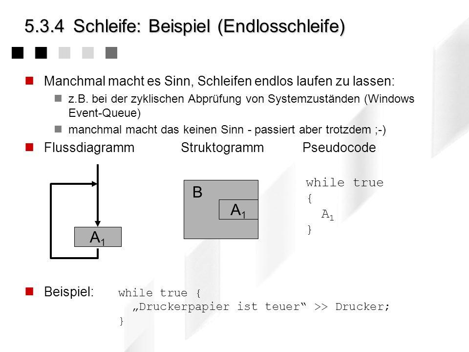 5.2.4Schleife: Die For-Schleife Da Schleifen mit Zähler sehr häufig auftreten, stellen viele Programmiersprachen ein eigenes sprachliches Mittel dafür