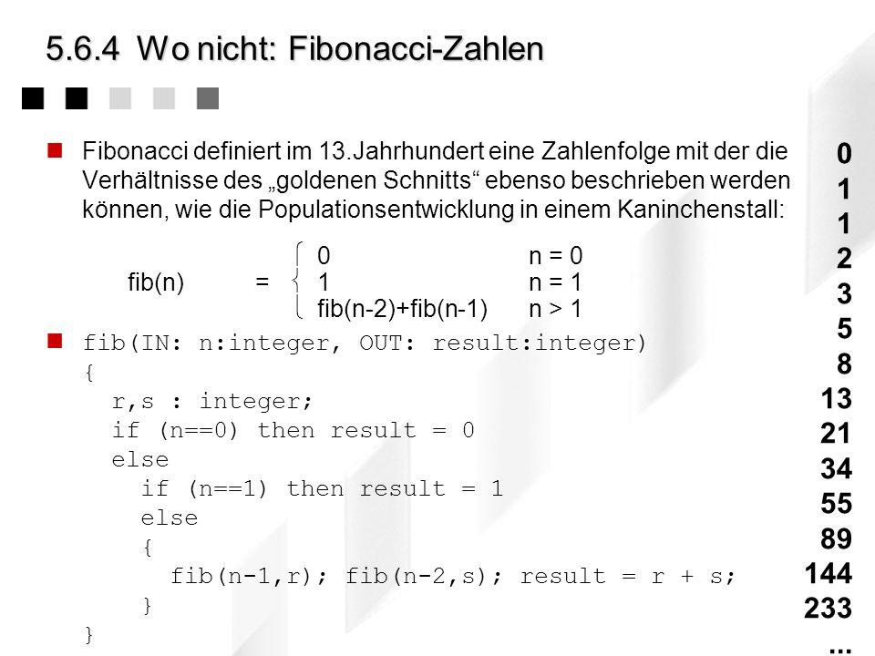 5.6.4Wo nicht: Modulo-Berechnung Alle Grundrechenarten - und vergleichbar einfache mathematische Operationen - lassen sich mit Hilfe sog. Primitiv Rek