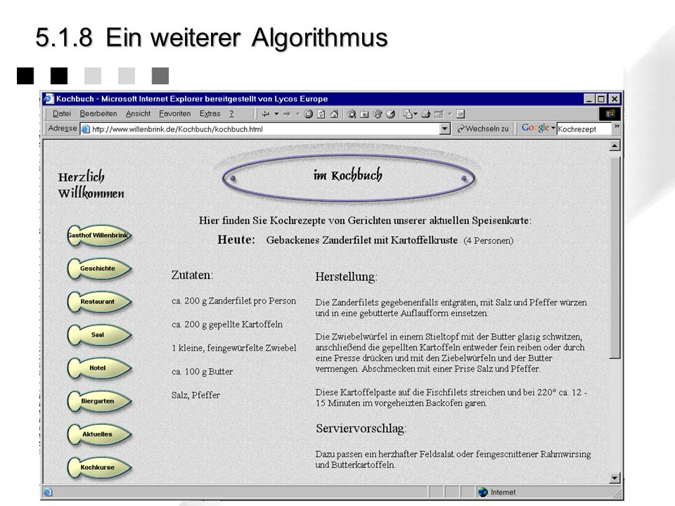 5.2.3Beispiel: Durchführbarkeit Ist der Algorithmus durchführbar ?