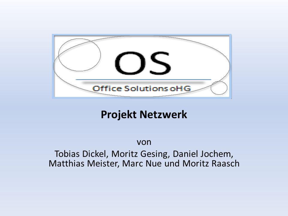 Projekt Netzwerk von Tobias Dickel, Moritz Gesing, Daniel Jochem, Matthias Meister, Marc Nue und Moritz Raasch