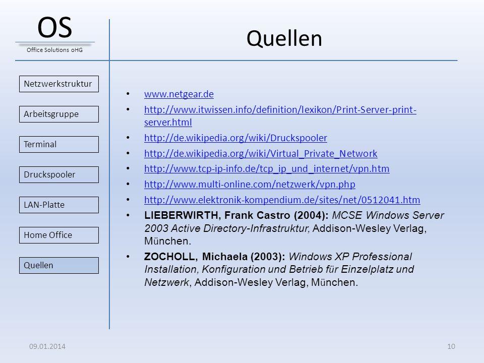 Quellen www.netgear.de http://www.itwissen.info/definition/lexikon/Print-Server-print- server.html http://www.itwissen.info/definition/lexikon/Print-S