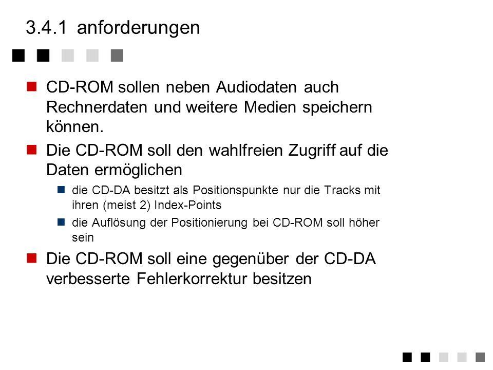 3.4CD-ROM anforderungen ansatz modi überblick datenhierarchie zusammenfassung