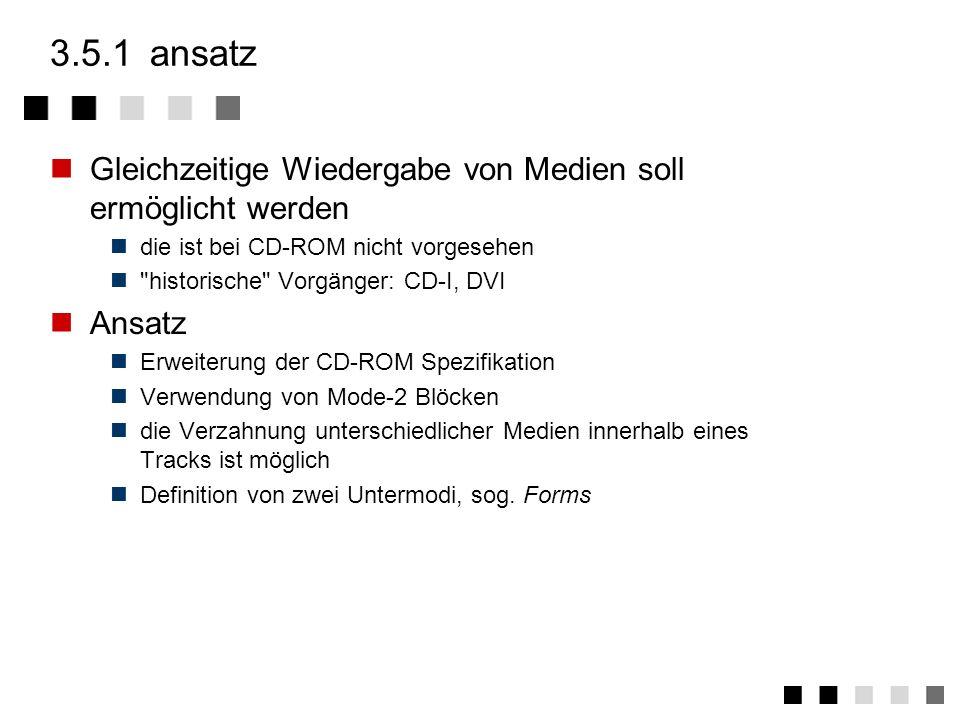 3.5CD-ROM/XA ansatz forms daten innerhalb der forms zusammenfassung CD-ROM/XA