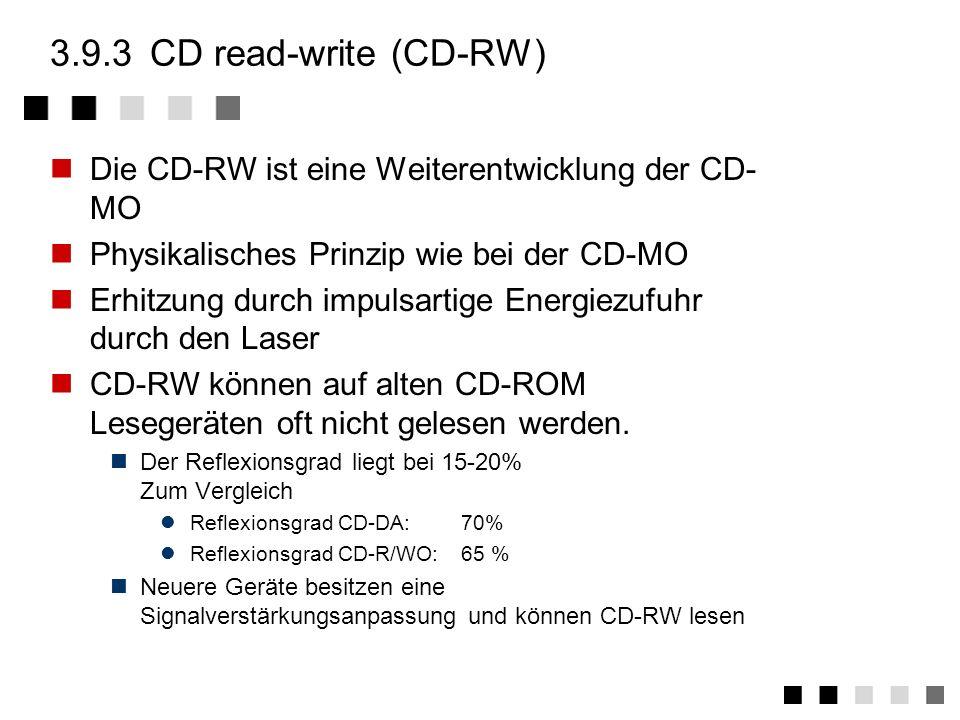 3.9.2struktur Die CD-MO ist (optional) zweigeteilt Premastered Area (optional) Nur lesbarer Bereich, der initial auf die CD-MO aufgebracht wurde. Roco