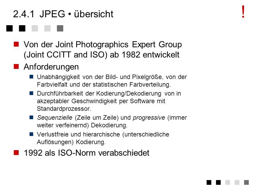 2.4angewandte verfahren JPEG H.261 / H.263 MPEG fraktale kompression