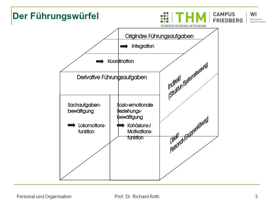 Personal und Organisation Prof. Dr. Richard Roth 3 Der Führungswürfel
