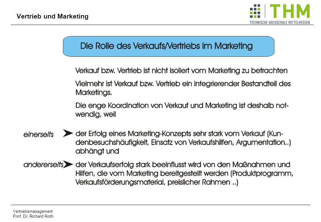 Vertriebsmanagement Prof. Dr. Richard Roth Vertrieb und Marketing